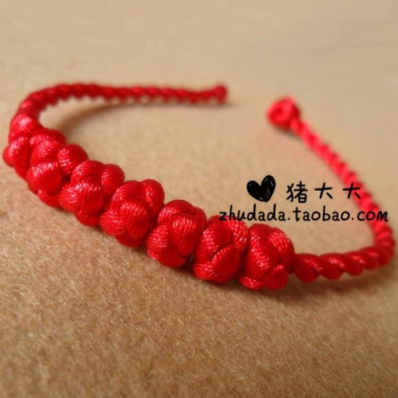 红线手链编织搭配图片_红线手链编织怎么搭配_红线_爱