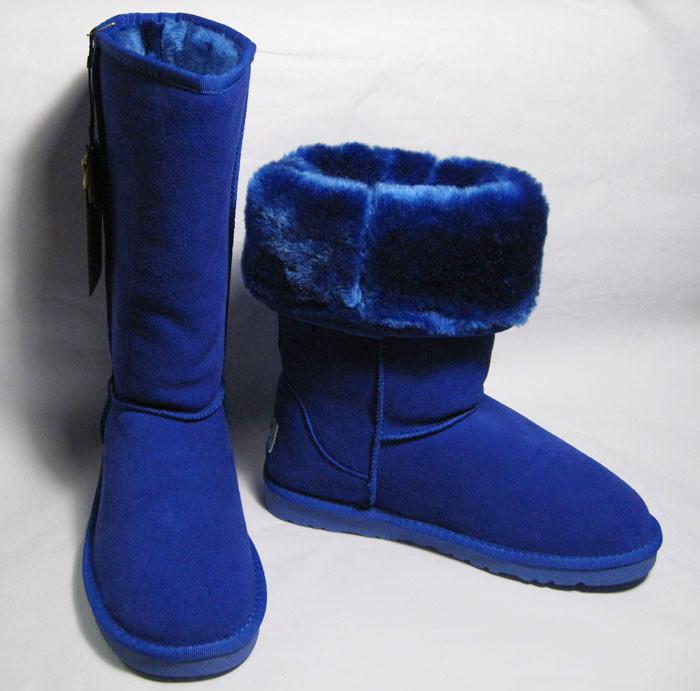 雪地靴深蓝色搭配图片