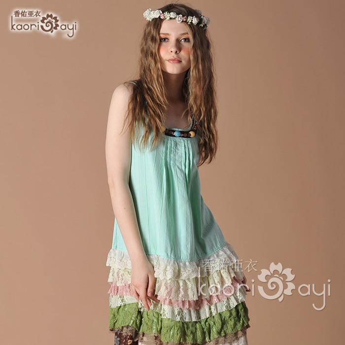手绘蕾丝裙搭配图片_手绘蕾丝裙怎么搭配