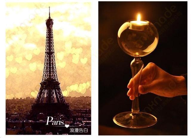 纯手工制作创意欧式玻璃烛台