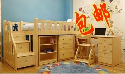 实木儿童学习桌书桌搭配