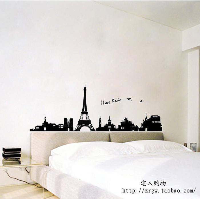 埃菲尔铁塔三代客厅卧室沙发墙墙纸