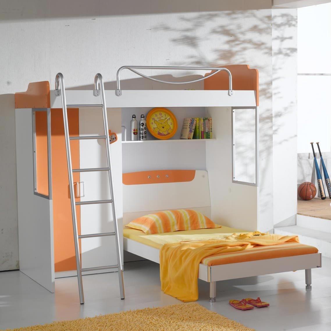 多功能家具_儿童房组合家具 多功能书桌衣柜 双层床 上下床带衣柜母子