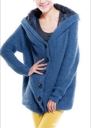 秋冬女装北京青年任知了姚笛丁香同款正版全身加厚绒连帽毛衣外套图片