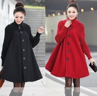 斗篷毛呢大衣是今年冬天最流行的款式,简洁,大气,腰围宽宽,不怕冬天的图片