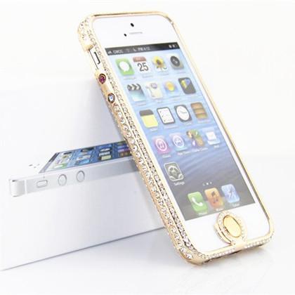 包邮苹果iphone 5s手机壳 金属边框 钻石边框 保护套4s手机套外套