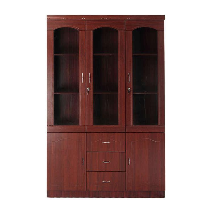实木书柜老板办公室实木双门柜定制三门柜青岛办公