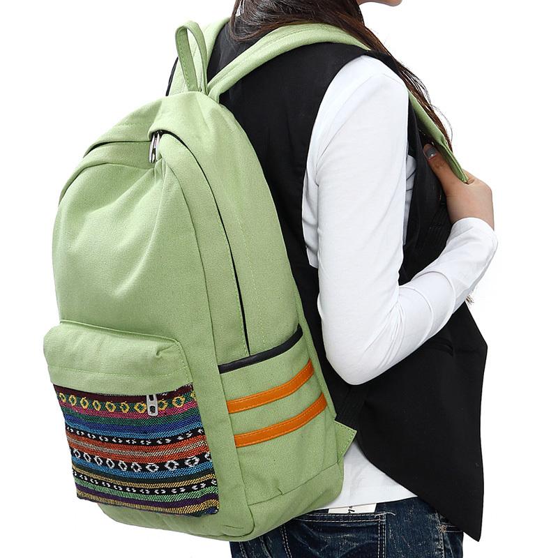 新款女双肩包韩版学生书包 淑女双肩背包小清新.图片