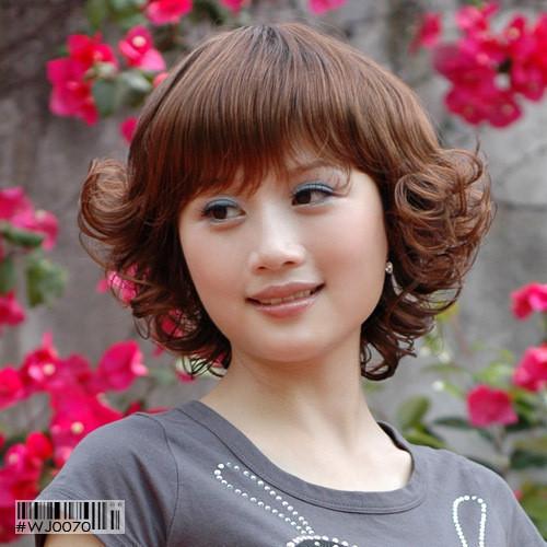 女士时尚短发 中老年假发 蓬松短卷发 妈妈假发