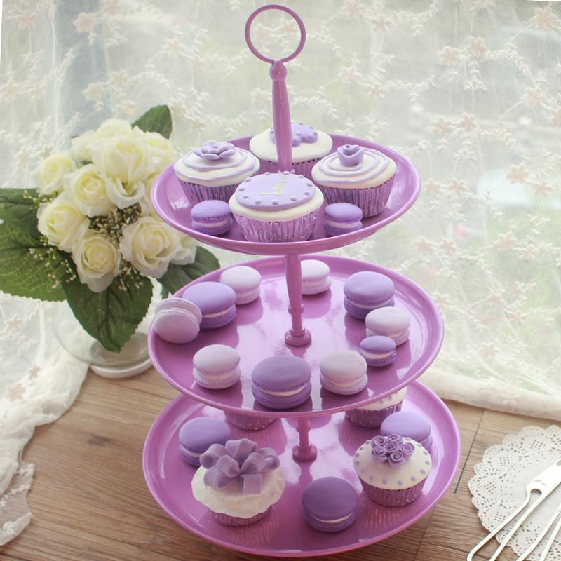 欧式婚礼三层铁艺杯子蛋糕架现代餐具多层大水果盘