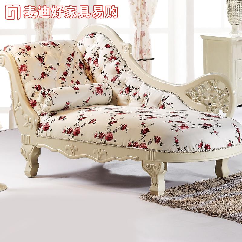 欧式碎花贵妃椅 古典贵妃沙发