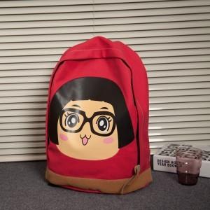 2013新款潮女包韩版学院风可爱卡通头像书包学生背包