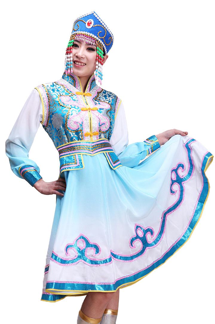 蒙古舞蹈服装演出服搭配