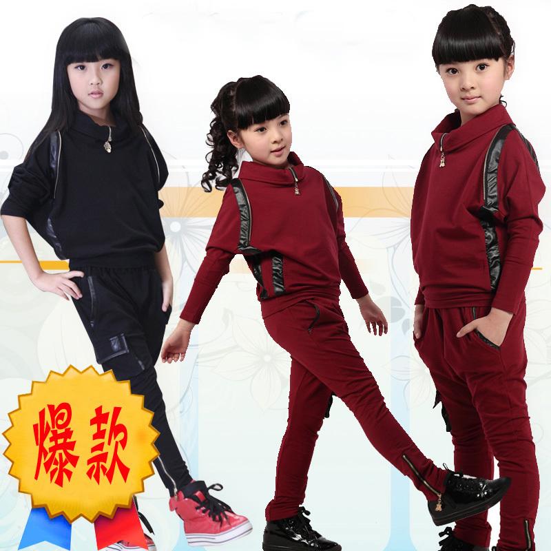 2013女童春秋装新款韩版时尚休闲运动服装中大童儿童