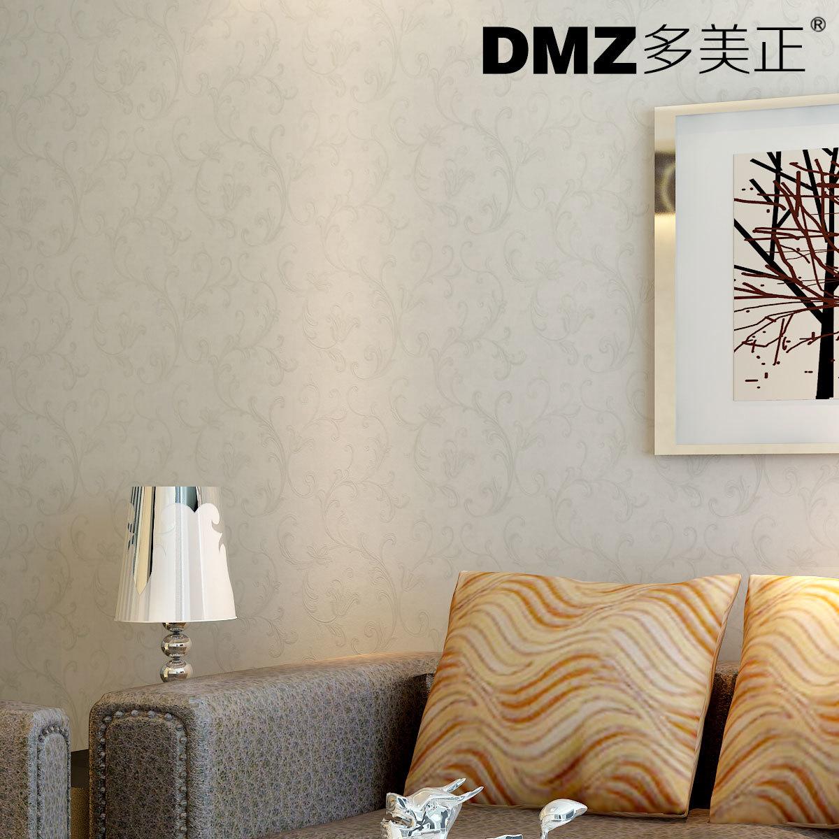 多美正 无纺布墙纸 简约现代客厅电视背景墙纸欧式卧室壁纸