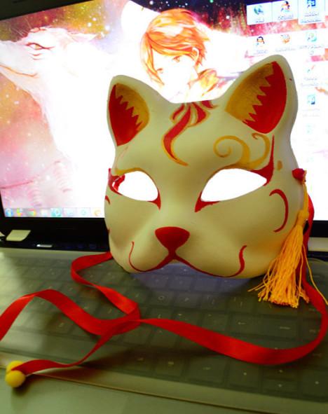 手绘狐狸面具