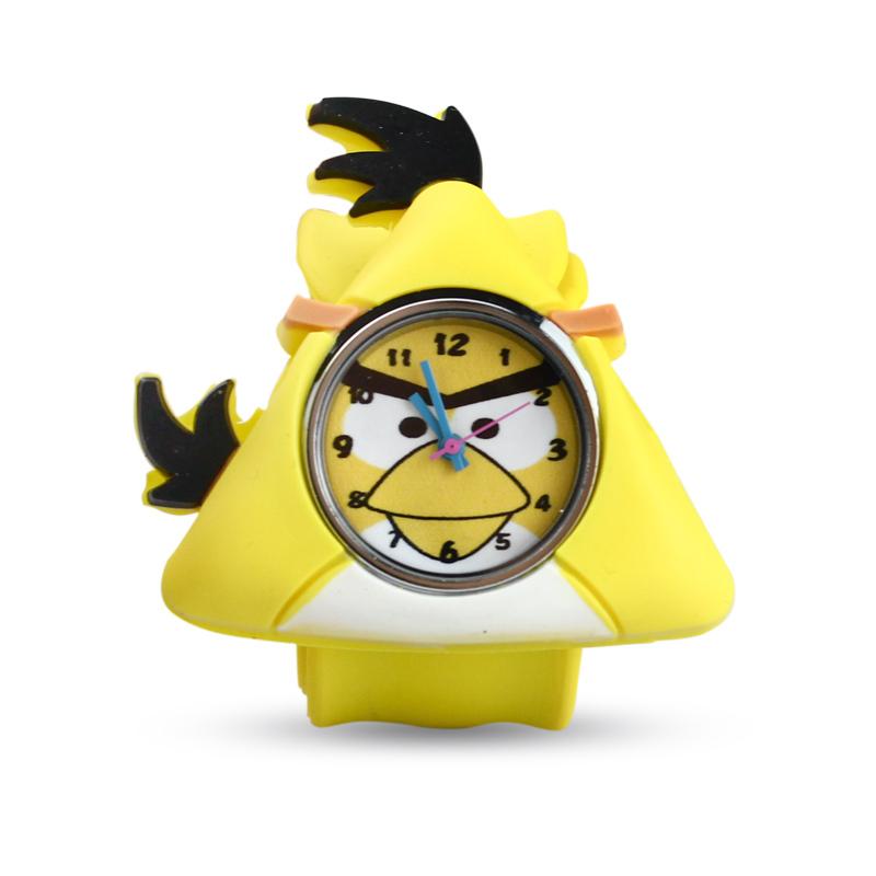 儿童手表卡通可拆啪啪圈表男女孩硅胶电子表小学生果冻童手表小鸟图片