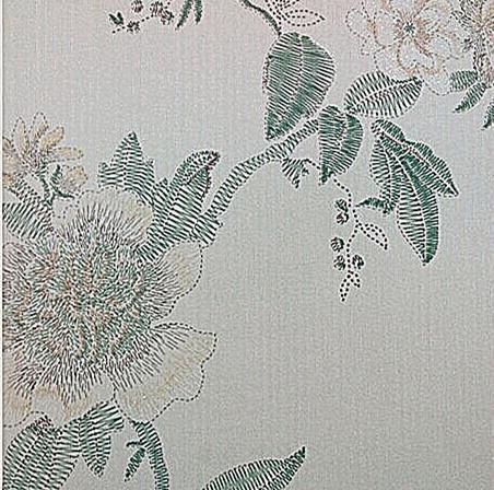 客厅卧室电视背景墙 刺绣洒金壁纸 无纺布墙纸进口环保中式壁纸 采用