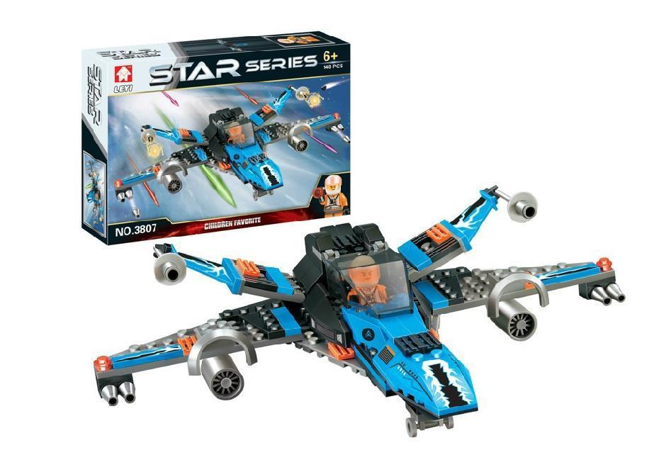 新品热卖乐高式积木 星球大战系列太空飞机