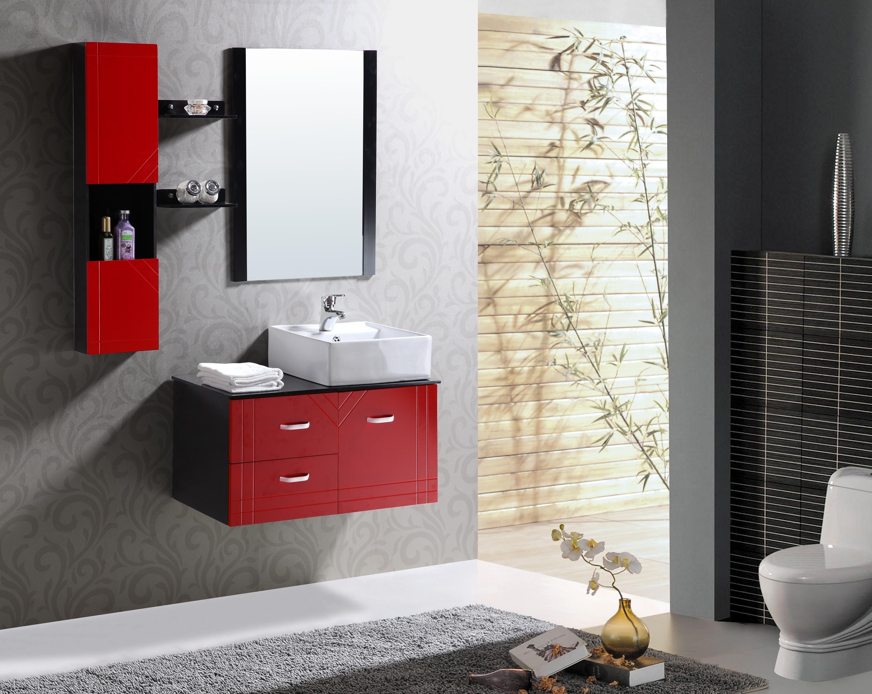 pvc卫浴柜组合橡木浴室柜落地柜欧式浴室柜组合洗脸盆柜洗手盆柜仅售