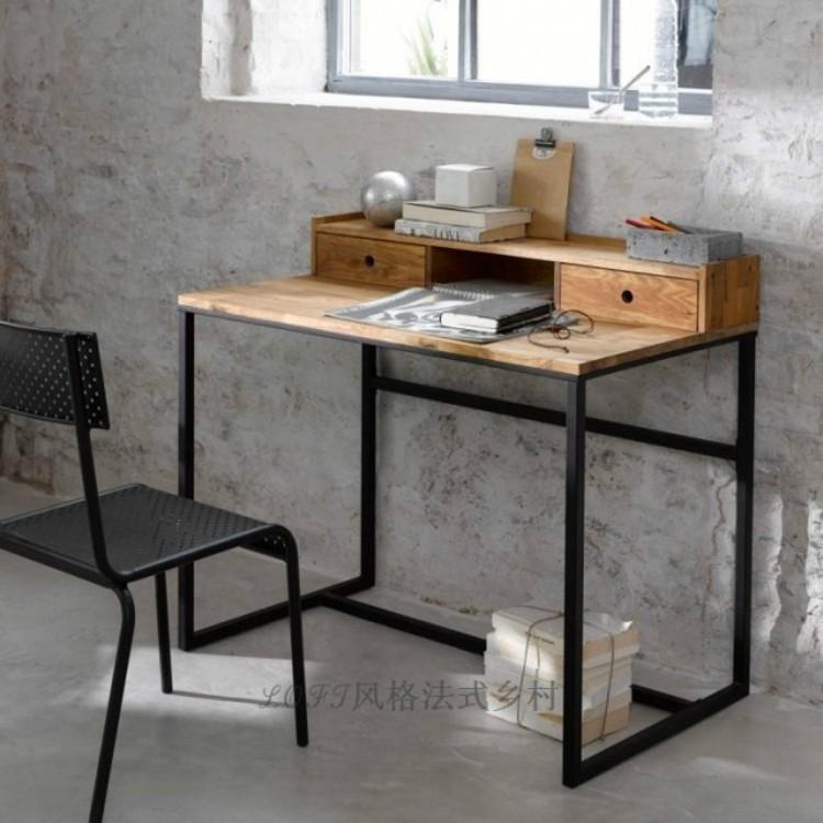 欧式复古风格铁艺书桌办公桌铁艺写字台创意梳妆台