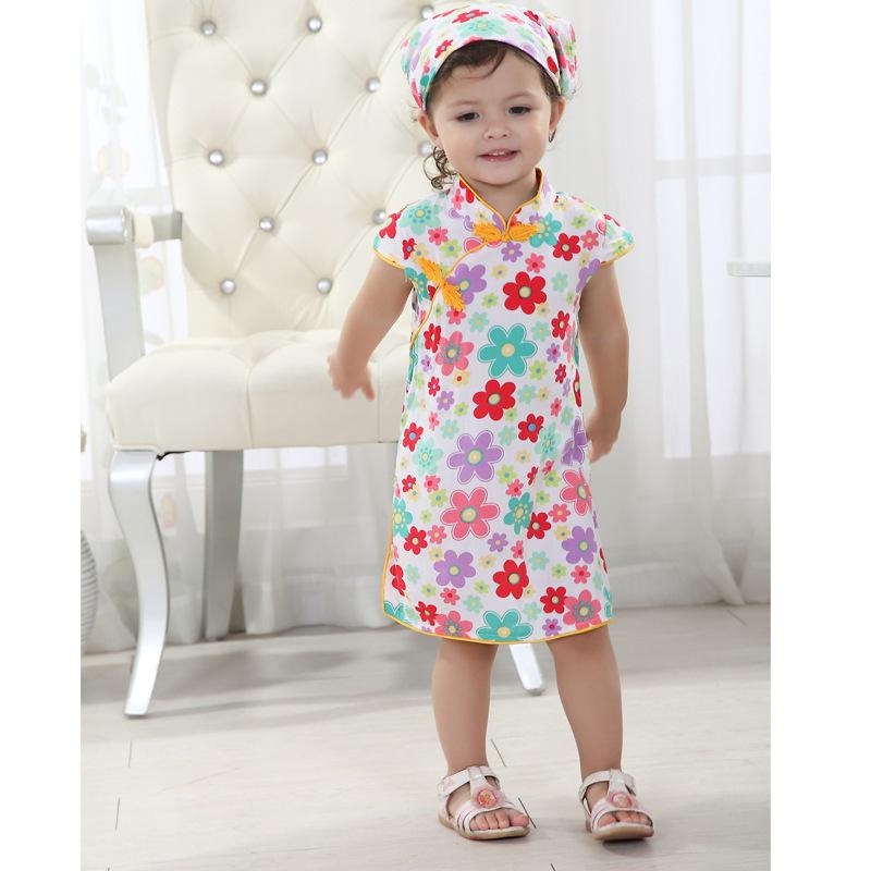 中国风复古旗袍原创薄款童装