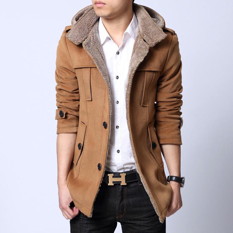 男冬装外套呢大衣搭配