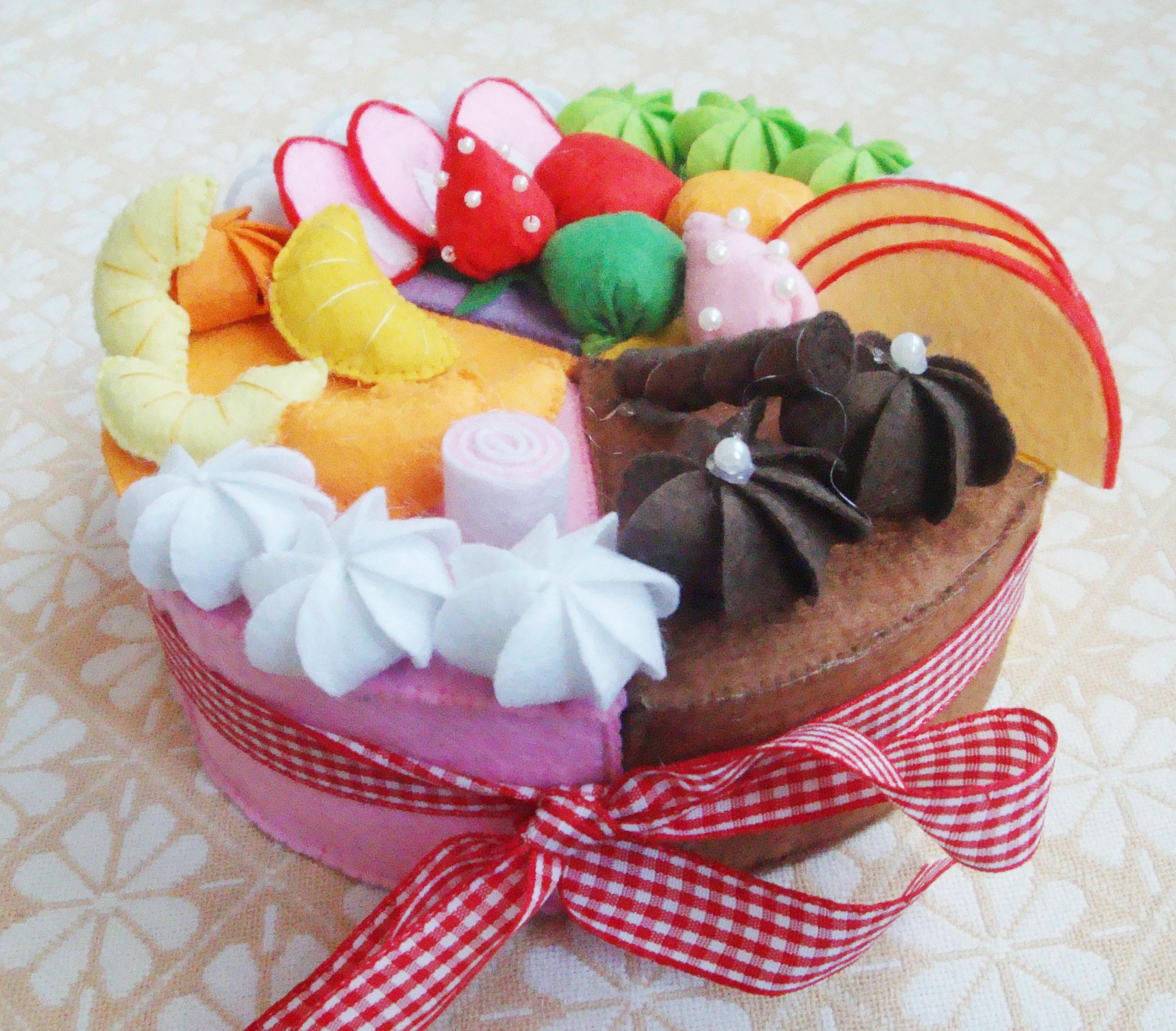 不织布水果蛋糕材料包搭配
