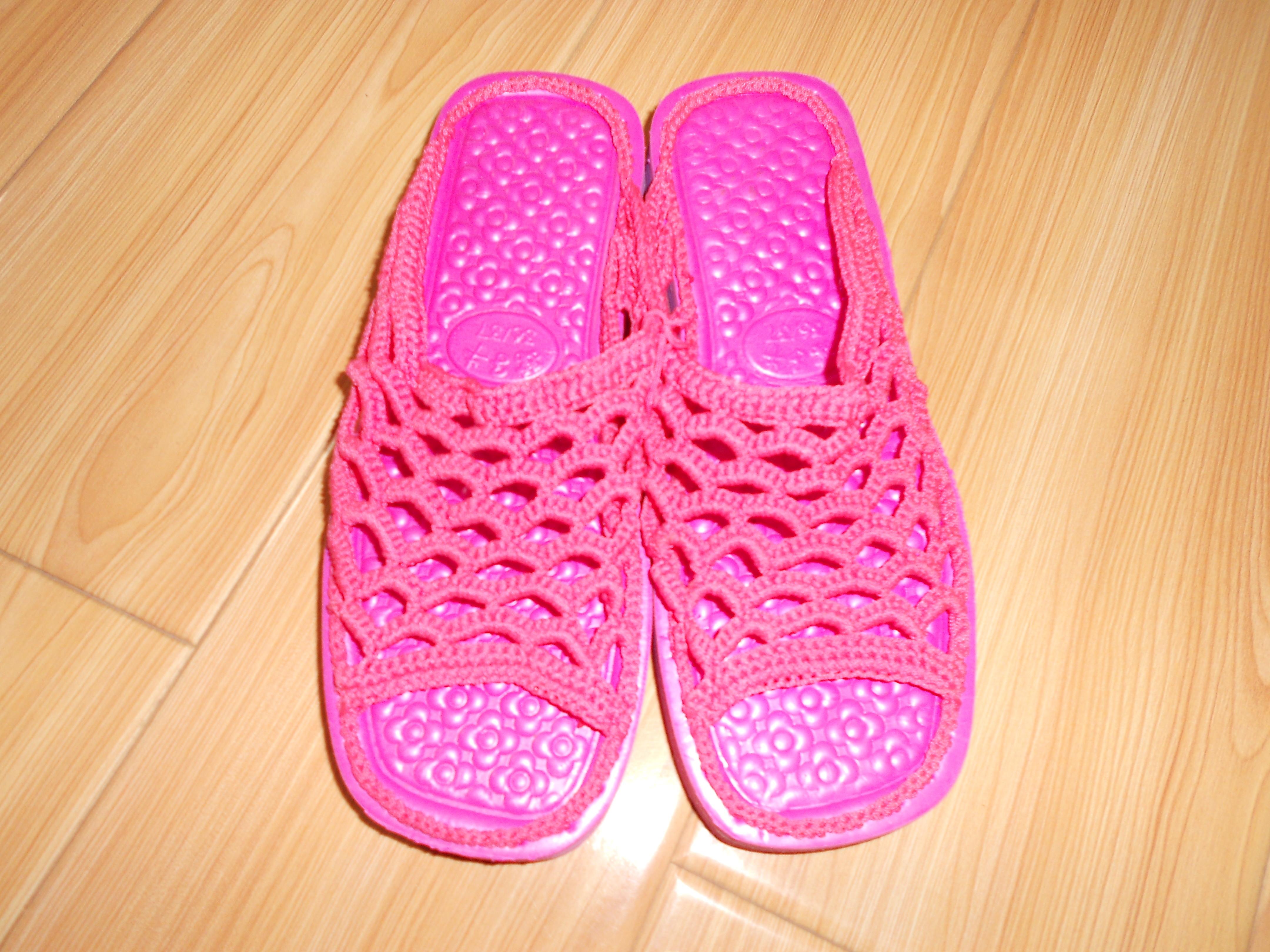 2012妈妈手工鞋 定做针织拖鞋 手工毛线钩织拖鞋 情侣拖鞋 女拖鞋