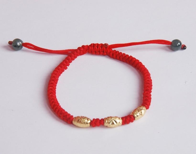 红绳手链转运珠手链金豆豆只赚信誉母女装母子装编辑