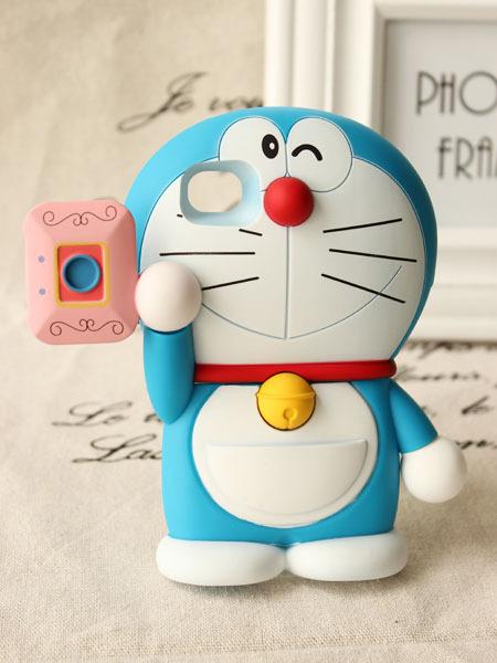 【3d立体蓝胖子苹果手机硬壳】-配饰-3c数码配件
