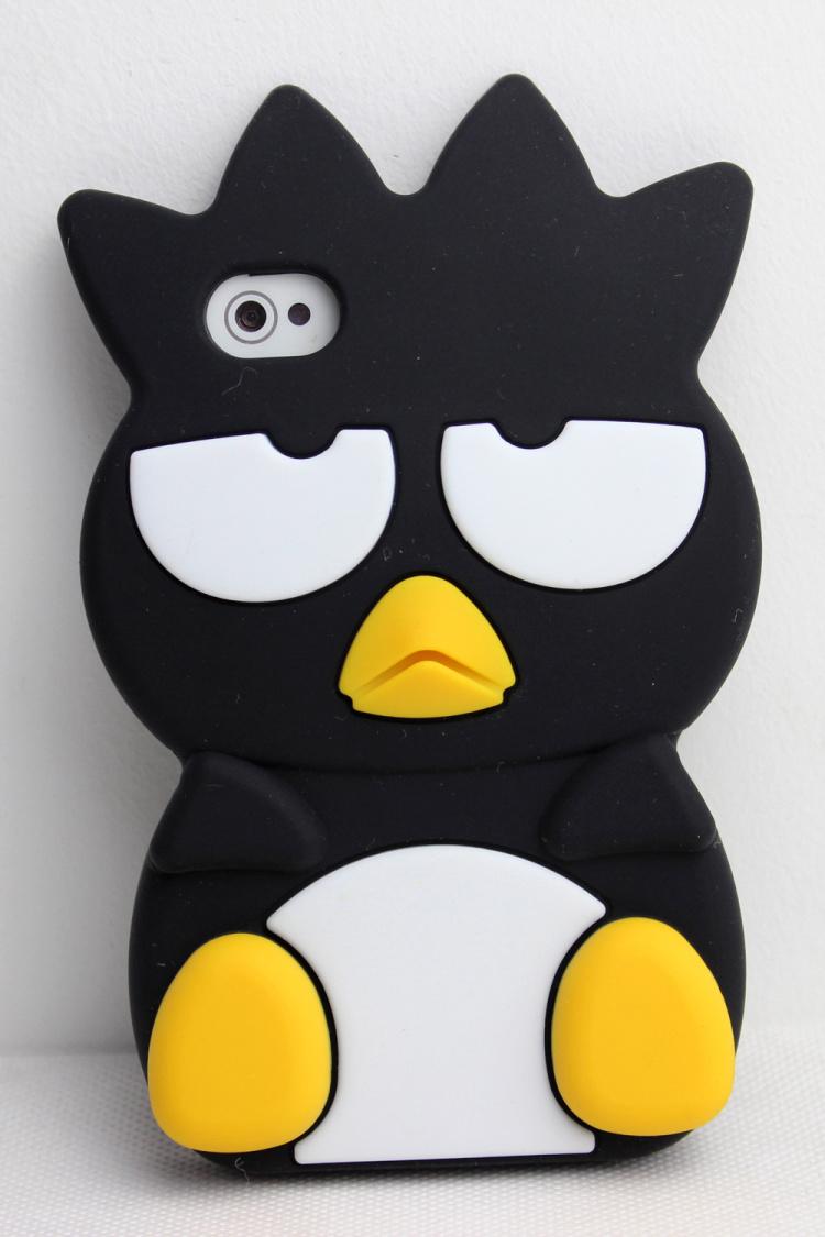 (木木优壳)企鹅iphone硅胶套