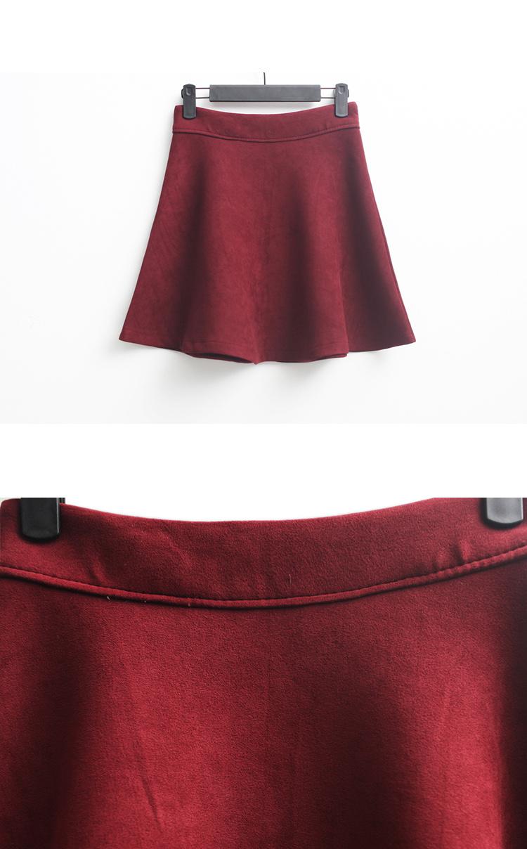 商品描述 清新简洁时尚范,纯色半身裙当季必备款,  裁剪不带过分修饰图片