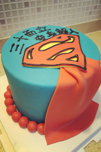 superman翻糖蛋糕.属于购买图片,superman_爱蘑菇街