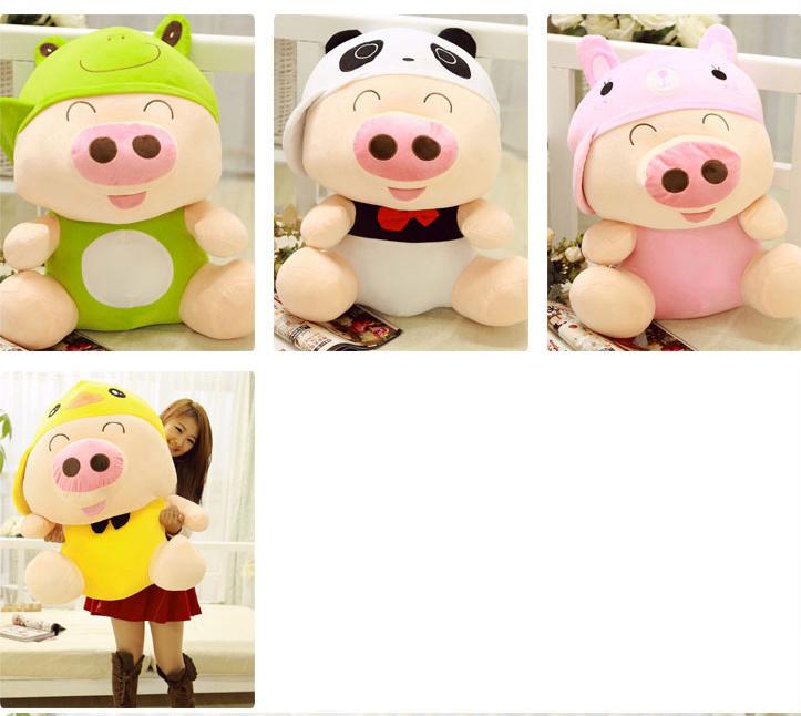 可爱卡通动物麦兜猪动物系列布娃娃毛绒公仔玩具