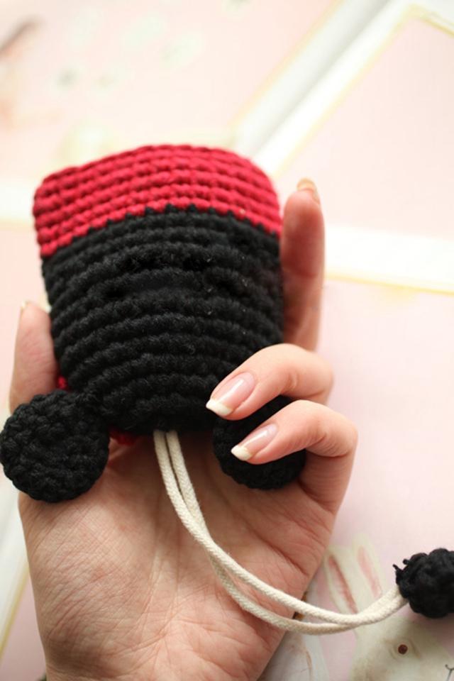 【纯手工毛线编织动物可拉伸钥匙包】-配饰-配饰