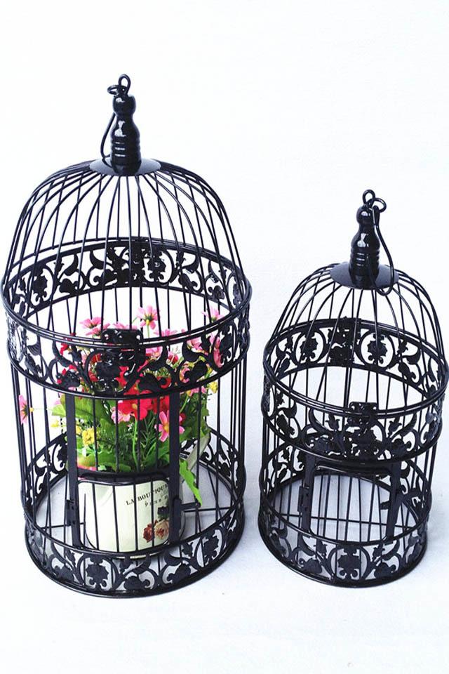 商品描述 欧式铁艺鸟笼 婚庆装饰橱窗摆件 婚礼摄影道具白色大号