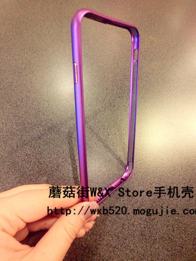 酷炫紫色iphone5s/6金属边框