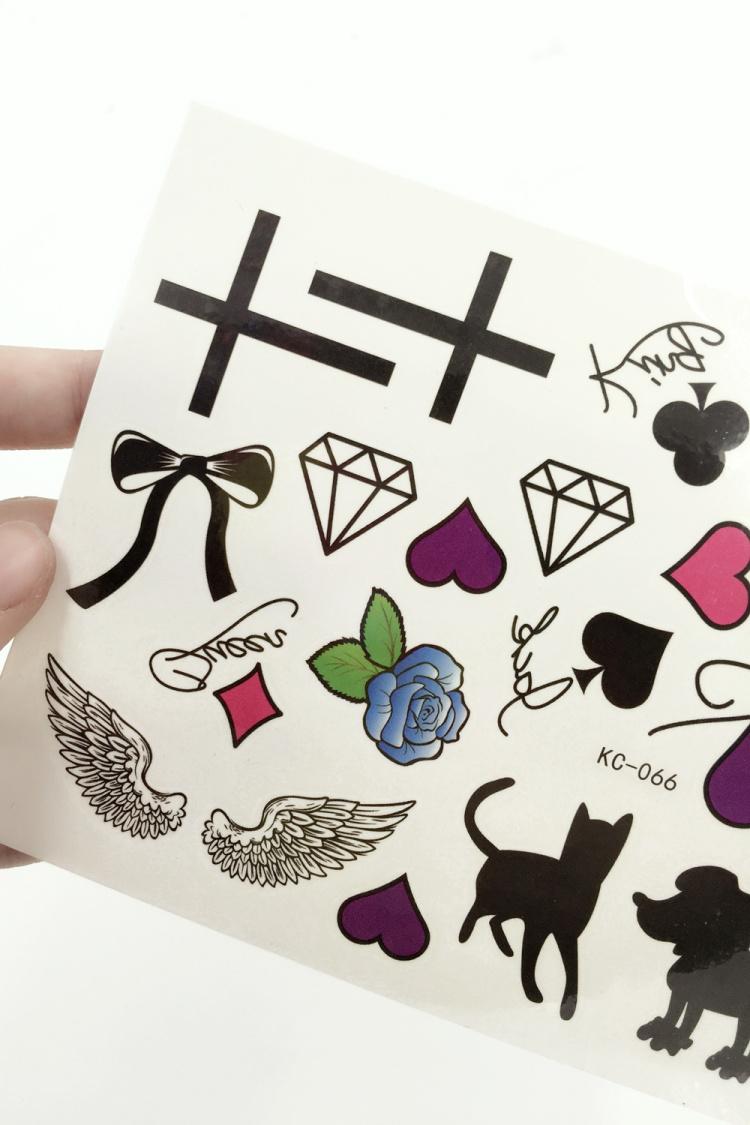 纹身贴手稿字母分享展示