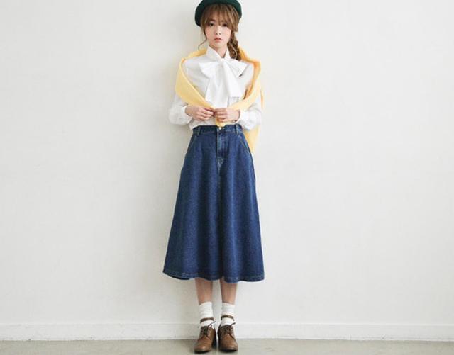 【新款牛仔半身长裙】-衣服-半身裙_裙子_服饰鞋包