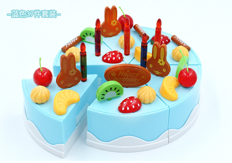 【diy水果生日蛋糕拼装套装37件套】-母婴-彩泥/手工