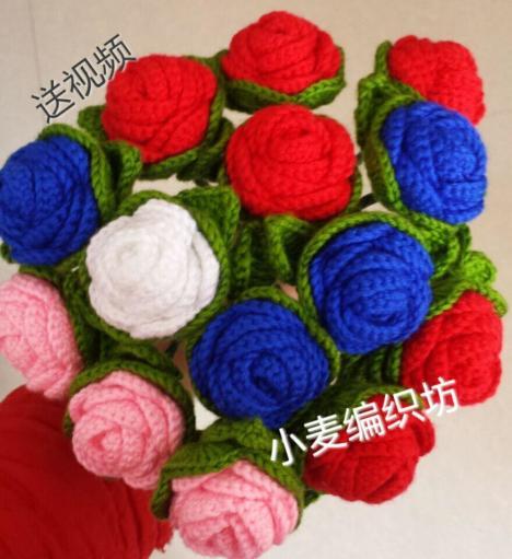 4cm织带玫瑰花 缎带小花 手工花仔