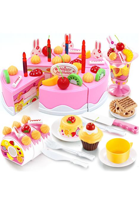 【儿童过家家厨房 diy水果生日蛋糕】-母婴-彩泥/手工