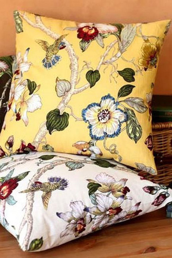 美式乡村风格花鸟抱枕购买图片图片