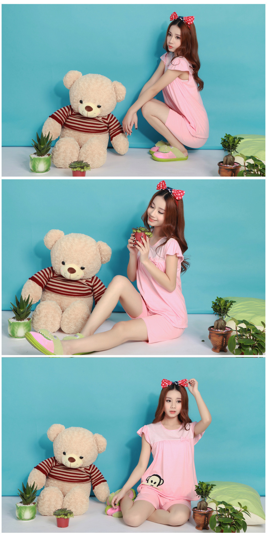 【夏季卡通猴子可爱公主睡衣套装】-内衣-女士内衣
