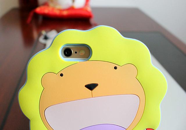 【超萌可爱狮子iphone5/6硅胶壳】-配饰-3c数码配件