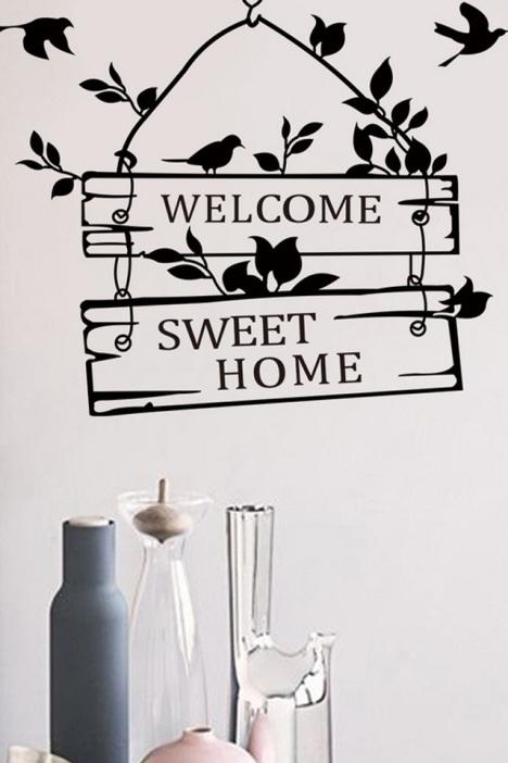 welcome home英文客厅卧室墙贴纸