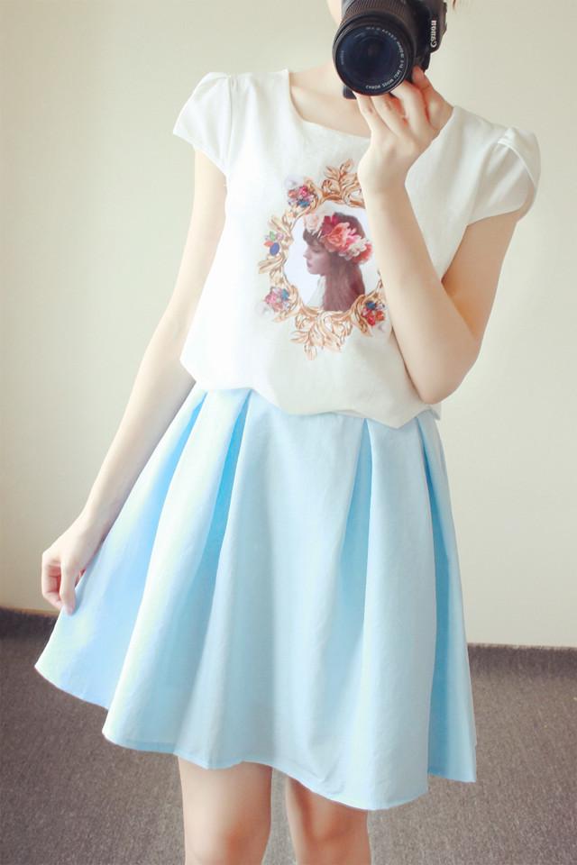 【甜美洛丽塔短袖连衣裙】-衣服-裙子