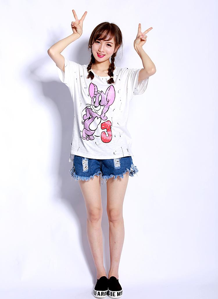 【babyfat卡通做旧jerry老鼠t恤】-衣服-服饰鞋包