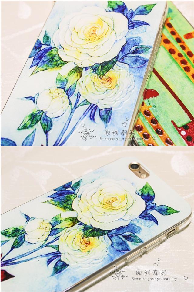 森系可爱情侣苹果6手机壳软4.